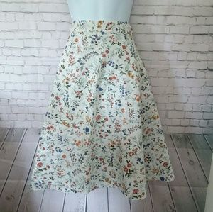 Dresses & Skirts - [VINTAGE] flower print apron wrap skirt